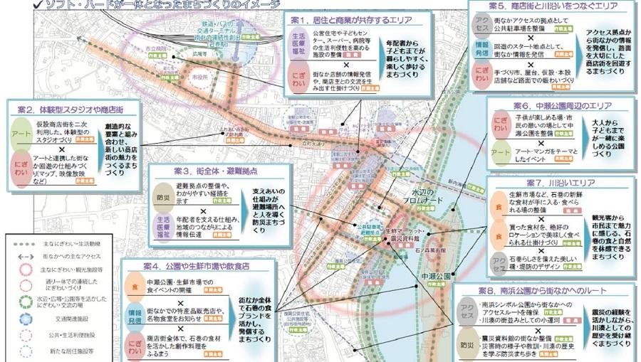 石巻市中心市街地のイメージ