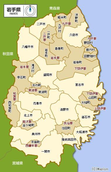 陸前高田市の位置