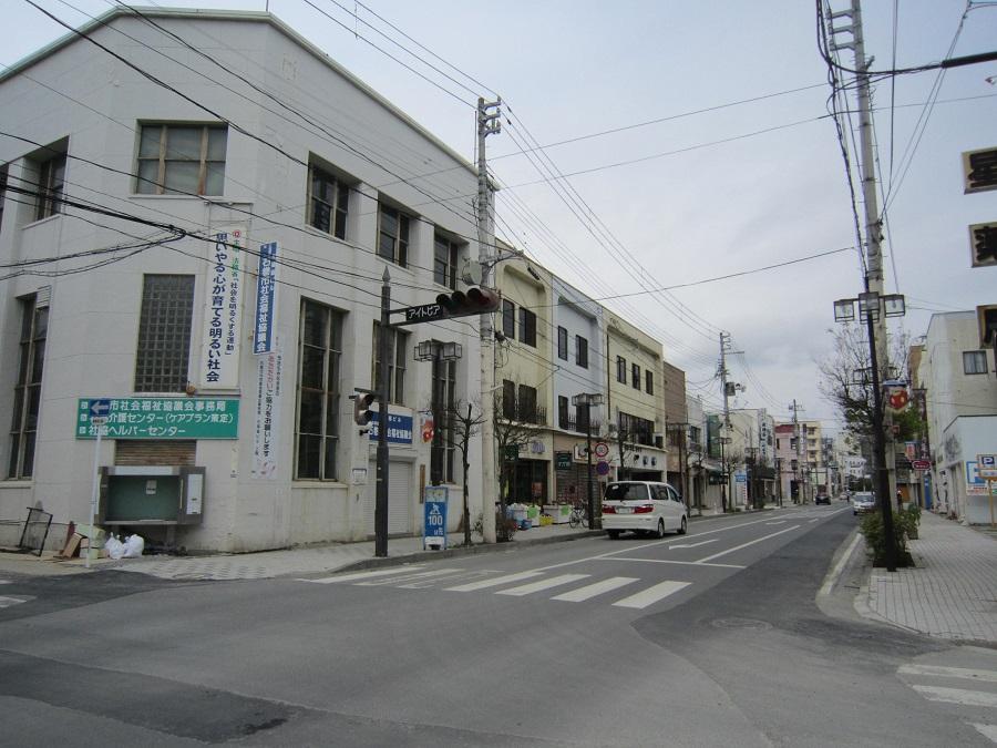 石巻市中心市街地の様子(2011)