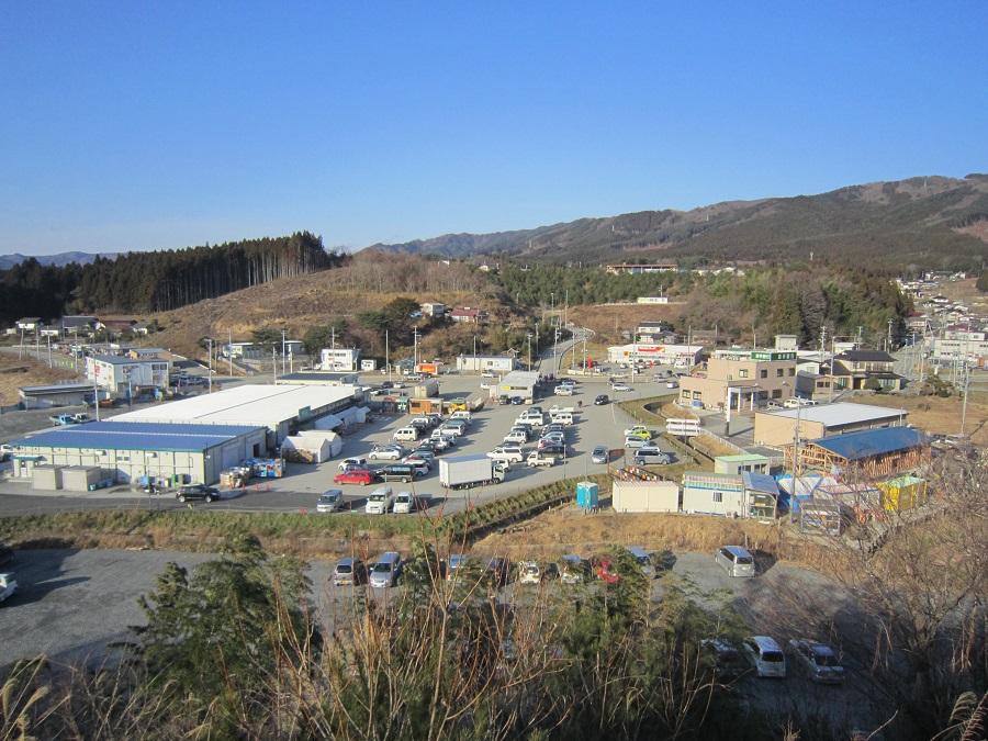 大小の店舗が集積する竹駒地区