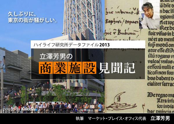 立澤芳男の商業施設見聞記イメージ画像