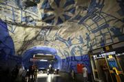 ストックホルムの地下鉄ホームのアート事業