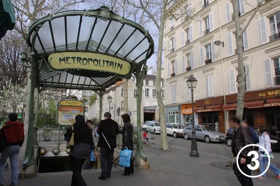 パリ地下鉄のアールヌーヴォー・デザイン3