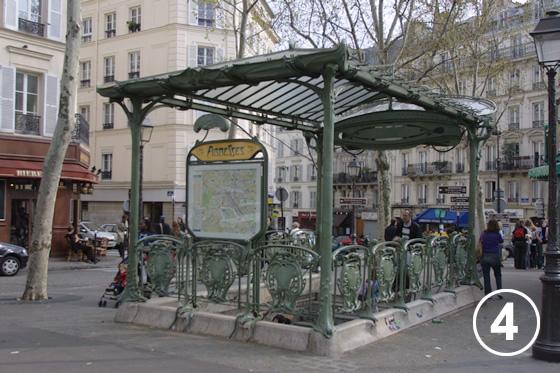 パリ地下鉄のアールヌーヴォー・デザイン4
