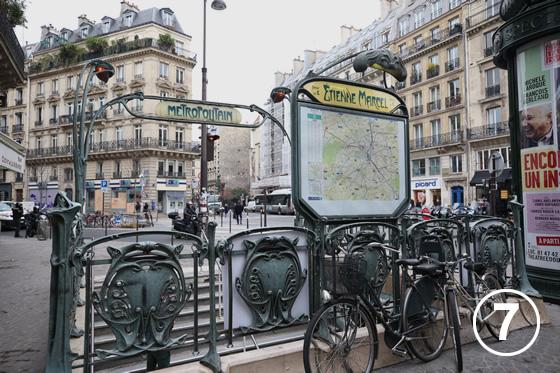 パリ地下鉄のアールヌーヴォー・デザイン7