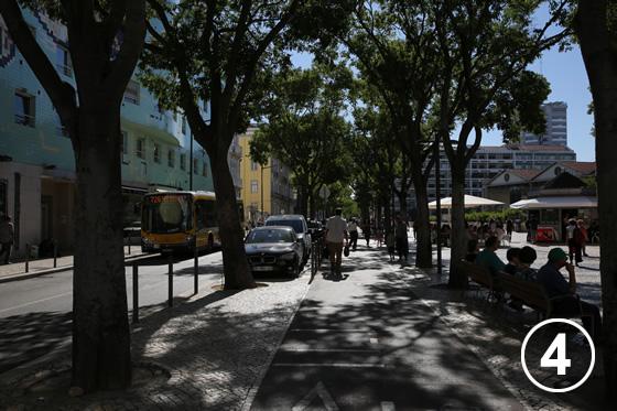 デュッケ・ダヴィラ・アヴェニーダの歩道拡幅事業4